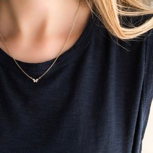 Petite Butterfly Necklace   14k Gold Plated